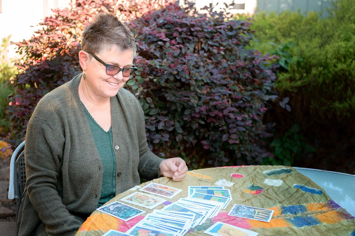 Mel Hofmann With Cards